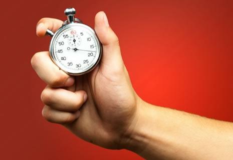 Cronómetro en mano